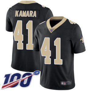 Saints Alvin Kamara 100th Season Jersey 1